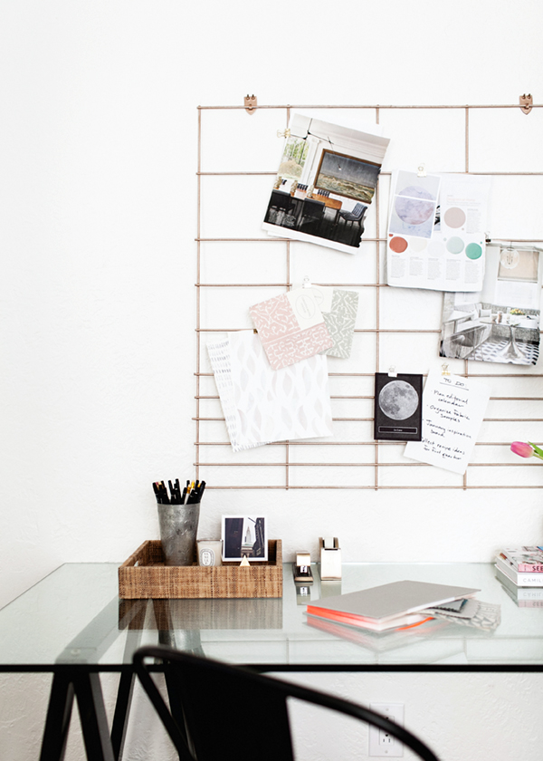 diy copper wall organization