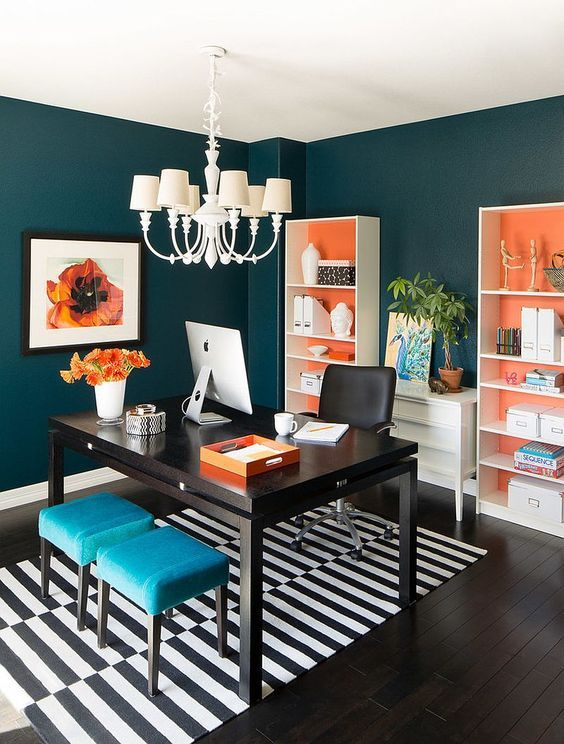 Colors for an office Simple Darktealdream Home Office Warrior 13 Inspiring Home Office Paint Color Ideas Home Office Warrior