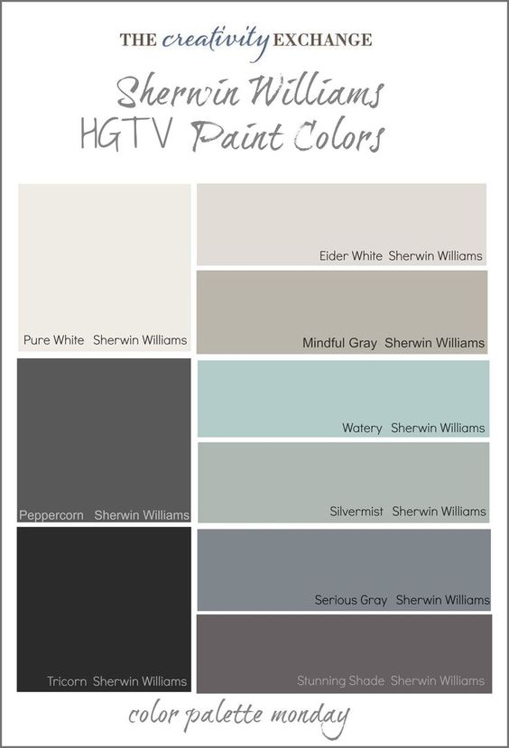 Home Office Paint Swatch Ideas. Color Pallette