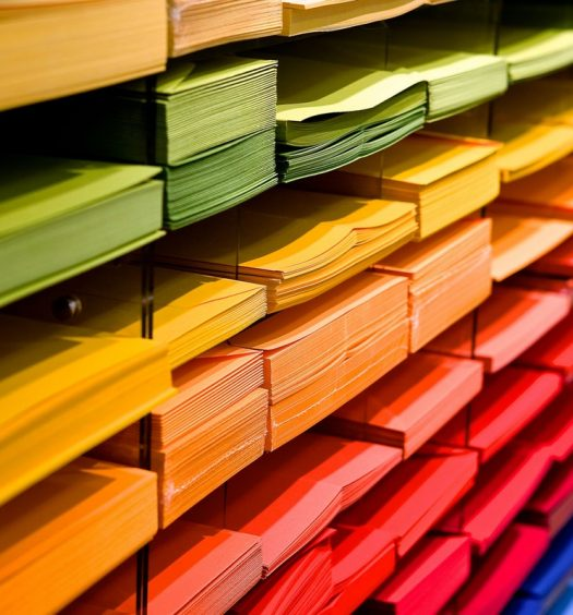 multi colored file folders