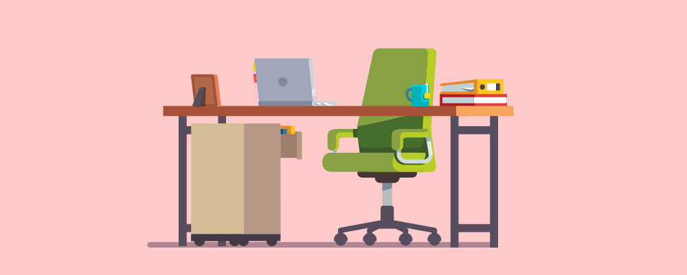 Introduction - office setup illustration