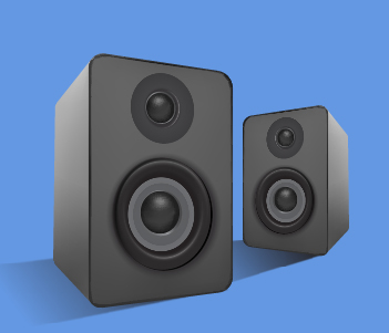 pair of small speakers