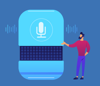 illustration of voice search