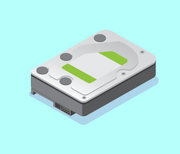 illustration of a computer hard drive