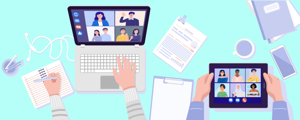 Illustration How to Work Effectively From Home