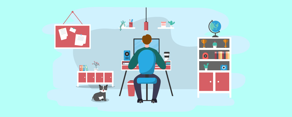 Illustration of how to Set Up Working From Home