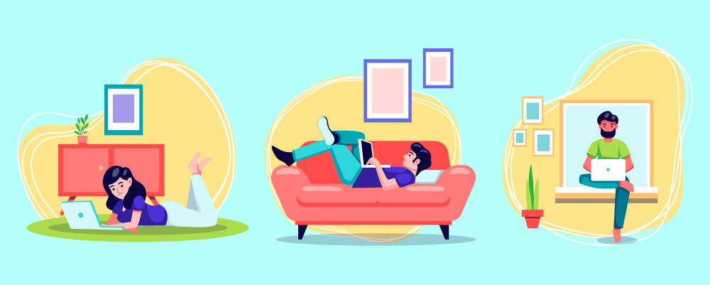 illustration of work from home tips